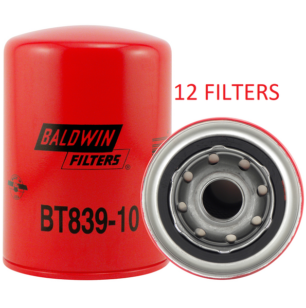 (CASE OF 12) BT839-10 BALDWIN HYDRAULIC FILTER HF6510 HF6056 Bobcat Toro Vermeer a163