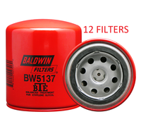 (CASE OF 12) BW5137 BALDWIN COOLANT FILTER WF2051 a242