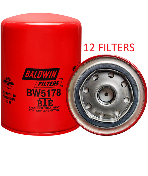 (CASE OF 12) BW5178 BALDWIN COOLANT FILTER WF2015 a173
