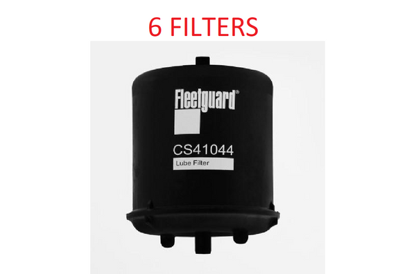 (CASE OF 6) CS41044 FLEETGUARD OIL FILTER BC7326 For Paccar MX12.9L Engines a207