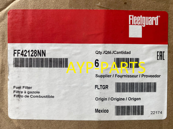 (CASE OF 6) FF42128NN FLEETGUARD FUEL FILTER 2017+ Mack MP7 MP8 Volvo D11 D13 a288