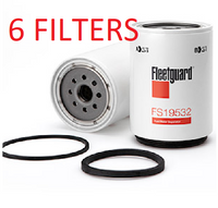 (CASE OF 6) FS19532 FLEETGUARD FUEL FILTER a???
