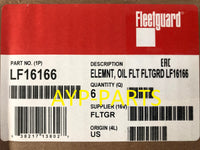 (CASE OF 6) LF16166 FLEETGUARD OIL FILTER P7235 for Ford 6.0L AND 6.4L Engines a067