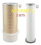 (2 SETS) 2, PA2418FN OUTER 2, PA2419 INNER BALDWIN AIR FILTER SET AF1733K AF4103 a241