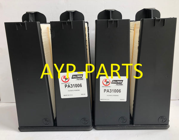(LOT OF 2) PA31006 BALDWIN AIR FILTER AF55021 1600-3I QSB 4.5 Cummins a086