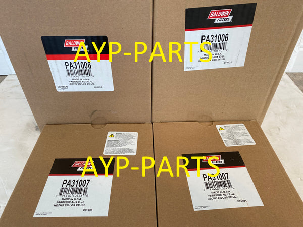 (2 SETS) PA31006 & PA31007 BALDWIN AIR FILTER SET AF55021 AF55320 a005