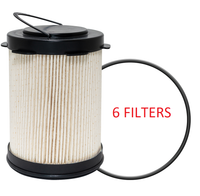 (6 PACK) PF46108 BALDWIN FUEL FILTER FS53000 DODGE RAM 6.7 CUMMINS DIESEL a219