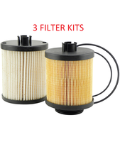 (LOT OF 3) PF7934 KIT BALDWIN FUEL FILTER FK48002 Ford Super Duty 6.4L Diesel  a202