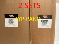 (2 SETS) 2, RS3517 OUTER & 2, RS3717 INNER BALDWIN AIR FILTER AF25667 AF26114 a376