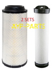 (2 SETS) 2 RS3922 OUTER & 2 RS3923 INNER BALDWIN AIR FILTER AF26393 AF26394 a084