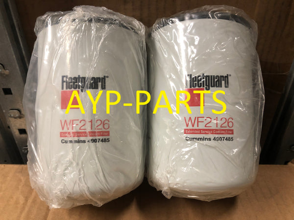 (LOT OF 2) WF2126 FLEETGUARD COOLANT FILTER BW5086 Cummins ISM, ISX, Signature 600 a234