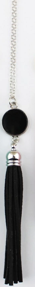 On Trend! Disc Pendant Necklace with Tassel - Various Colours