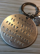 Custom Hand-Stamped Key Ring