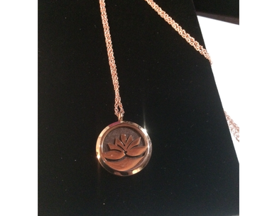 Lotus Flower Essential Oil Locket with Chain