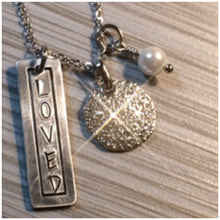 """Loved"" - An Original Design - Hand Stamped with Classic Accents"