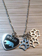 Mama Bear Necklace with Cub Paws - Choose the Number of Paws You'd Like!