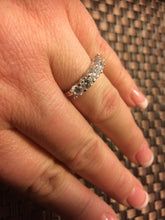 5 Stone Classic Sterling Silver Ring with Simulated Diamonds