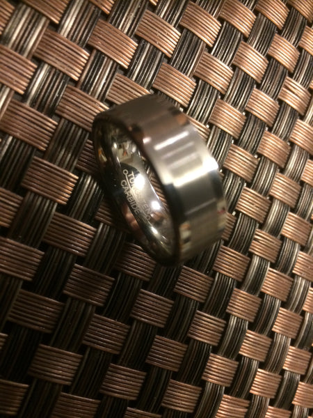 Men's Solid Tungsten Ring - Brushed Chrome
