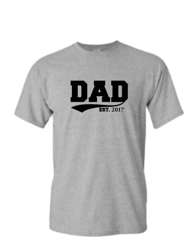 Dad Established Customizable Grey T-shirt