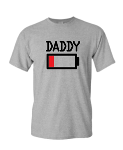 Daddy Low Battery Grey T-shirt