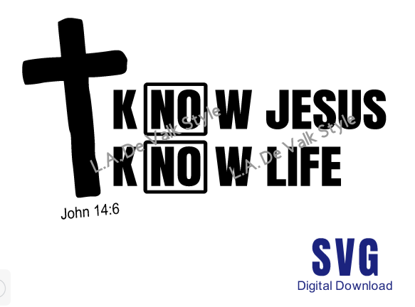 Know Jesus Know Life SVG Cut File