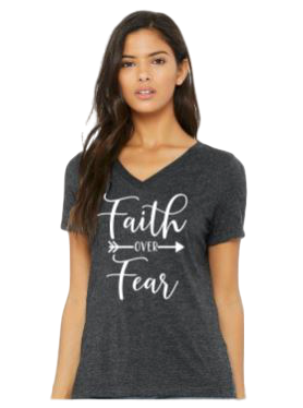 JANUARY 2020 T-SHIRT OF THE MONTH, FAITH OVER FEAR inspirational, motivational t-shirt