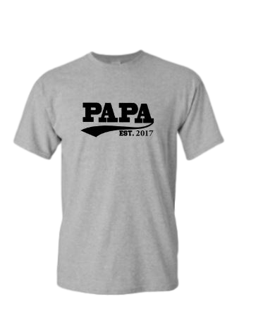 Papa Established Customizable Grey T-shirt