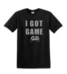 I Got Game Black T-shirt with Metallic Silver Design