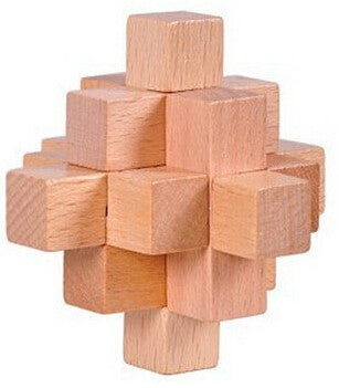 Brain Teaser Puzzle - Classic IQ Wooden Mind Puzzle