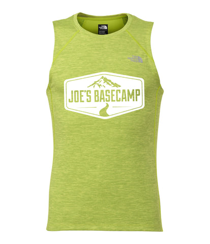 MEN'S NORTH FACE MOUNTAIN ATHLETIC ULTRA LIGHTWEIGHT RUNNING SINGLET with JOE'S BASECAMP DESIGN (GREEN)