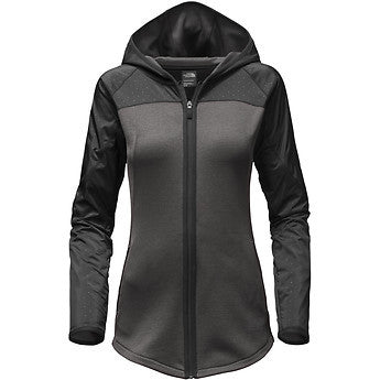 WOMEN'S NORTH FACE MOUNTAIN ATHLETIC SPARK FULL-ZIP HOODIE (BLACK/GREY)
