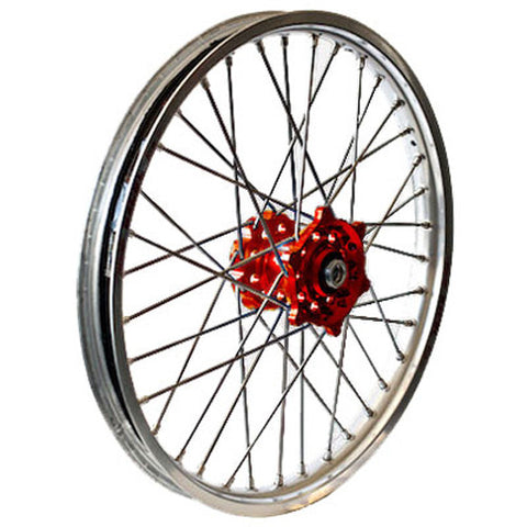 Rear Wheel Set 2.15X18 Red Hub Silver Rim