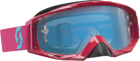 Tyrant Goggle Rubine Red W/Electric Blue Chrome Lens