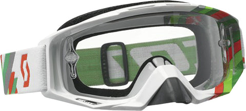 Tyrant Goggle Linear White/Green W/Clear Lens