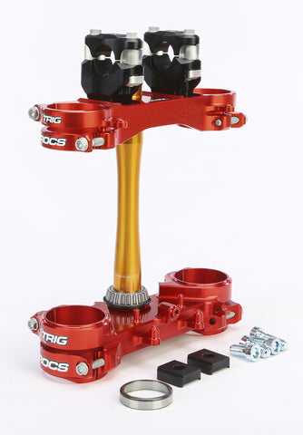 Rocs Clamp Set 22Mm Honda Red