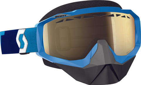 Hustle Snocross Goggle Blue W/L.S. Bronze Chrome Lens