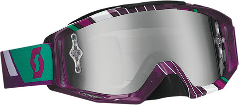 Tyrant Goggle Race Purple/ Paste Green W/Chrome Lens