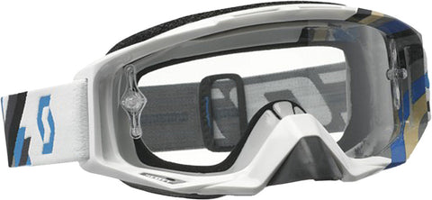 Tyrant Goggle Linear White/Blue W/Clear Lens