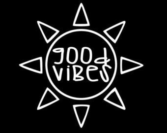 GOOD VIBES SUN VINYL STICKER
