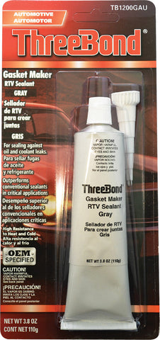 Gasket Maker Rtv Sealant Grey 3.8Oz
