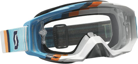 Tyrant Goggle Fade White/Blue W/Clear Lens