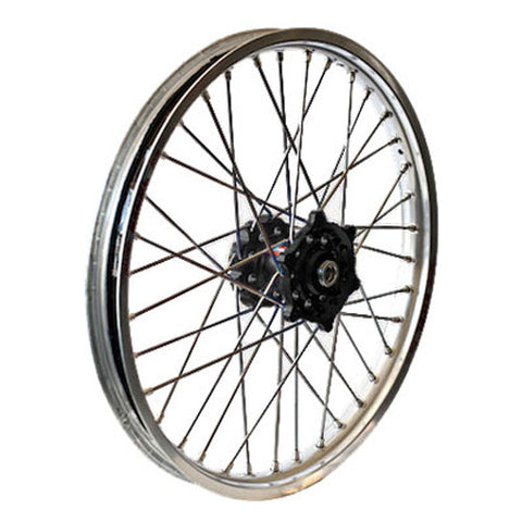 Rear Wheel Set 2.15X18 Black H Ub Silver Rim