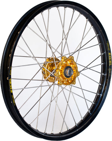 Front Wheel Set 1.60X21 Gold H Ub Black Rim