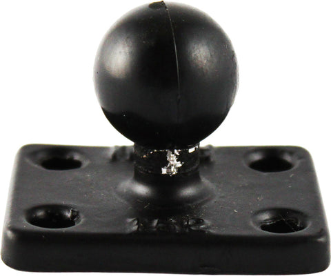 "Rectangle Base W/1"" Ball 1.5""x2"""
