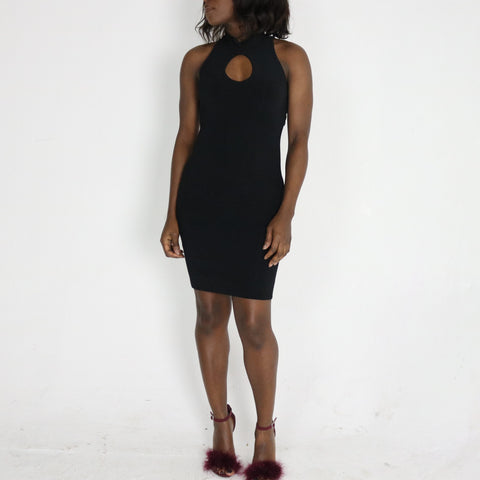 Teigan 'high neck, key hole' Dress