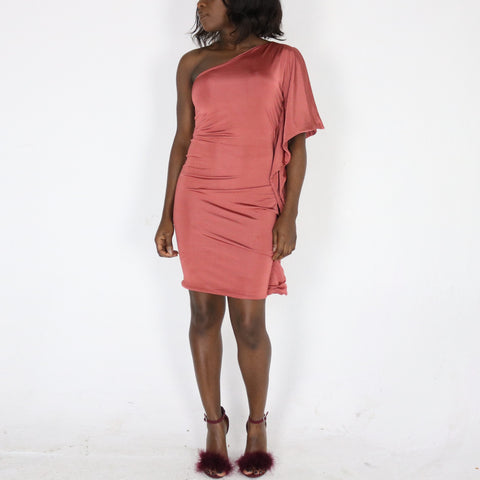 Gabby 'monostrap drape' Dress