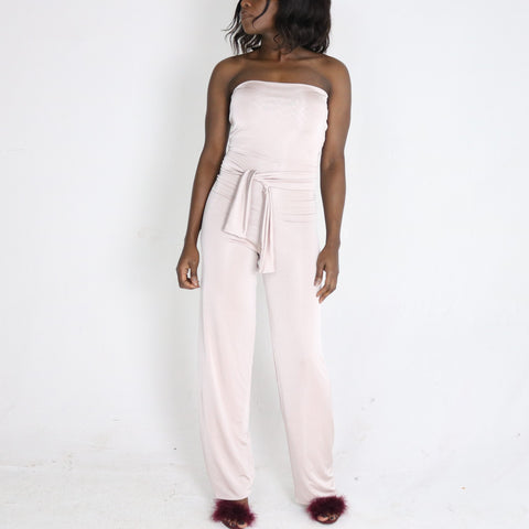 Zola 'strapless belted' Jumpsuit