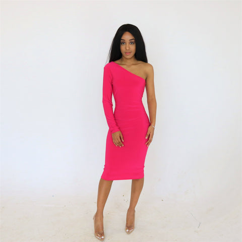 Faye 'monosleeve' Dress