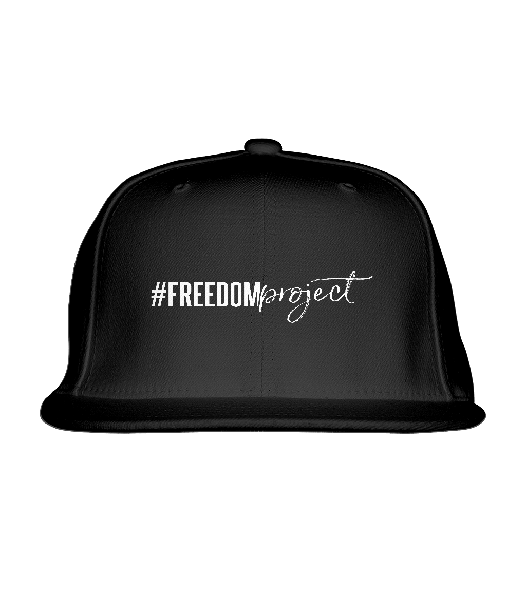 #FREEDOM Project Black Cotton Rapper Cap
