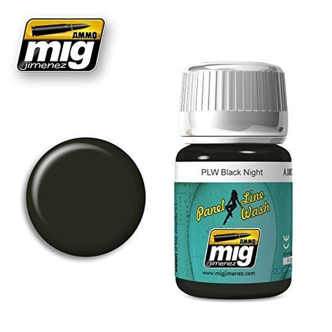 Ammo of Mig Jimenez PANEL LINE WASH BLACK NIGHT 35ml #1611 by Ammo of Mig Jimenez